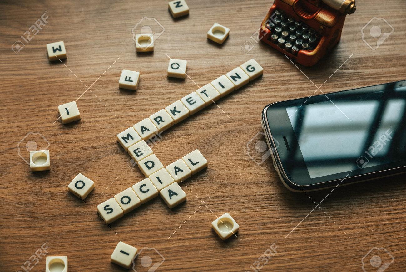 Alphabetical crossword of Social Media Marketing concept. - 169597264