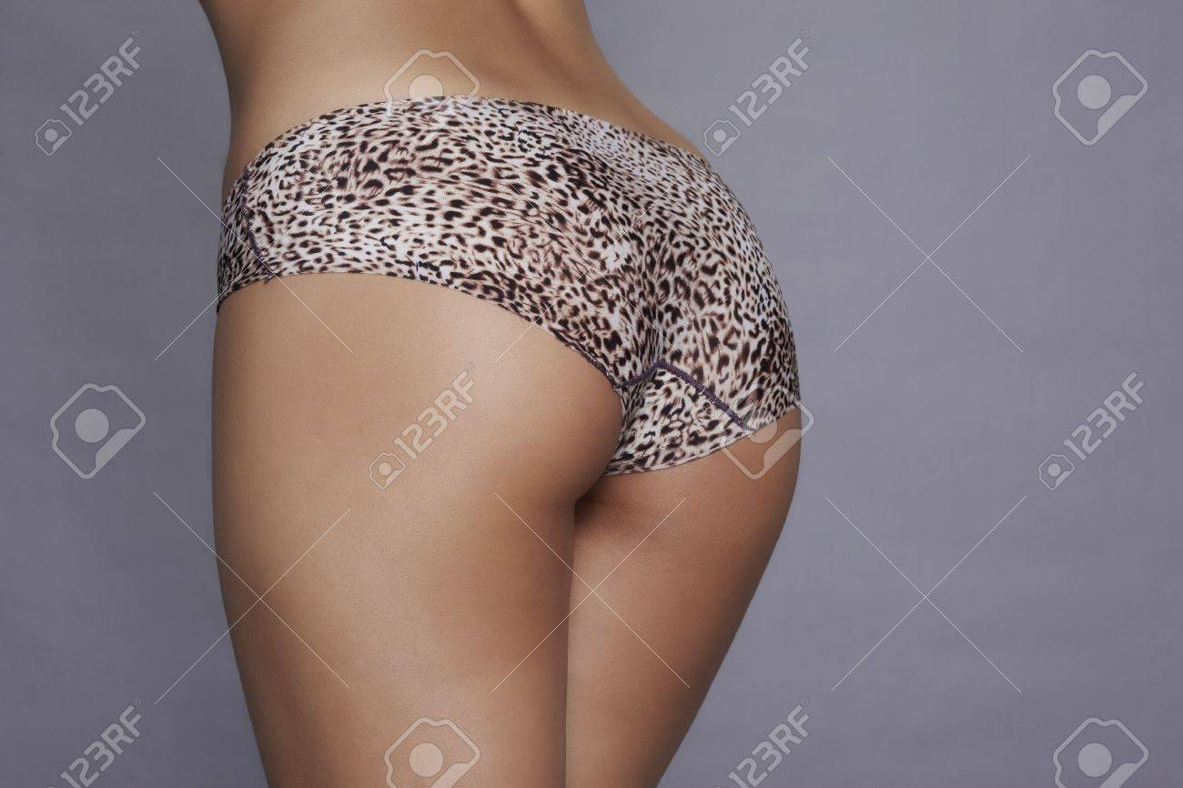 Beautiful women ass with leopard print panty Stock Photo - 19496151