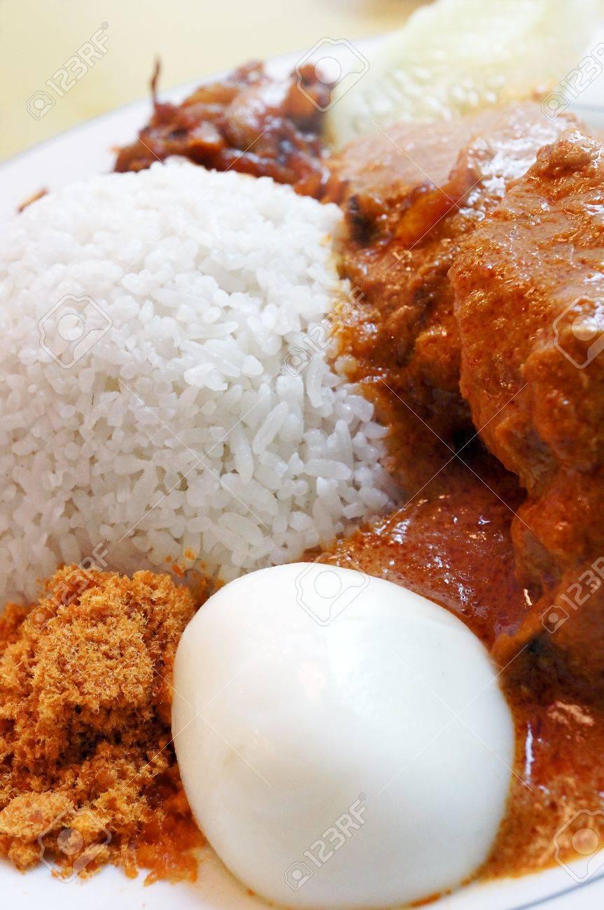 Famous malaysian food nasi lemak - 13219322