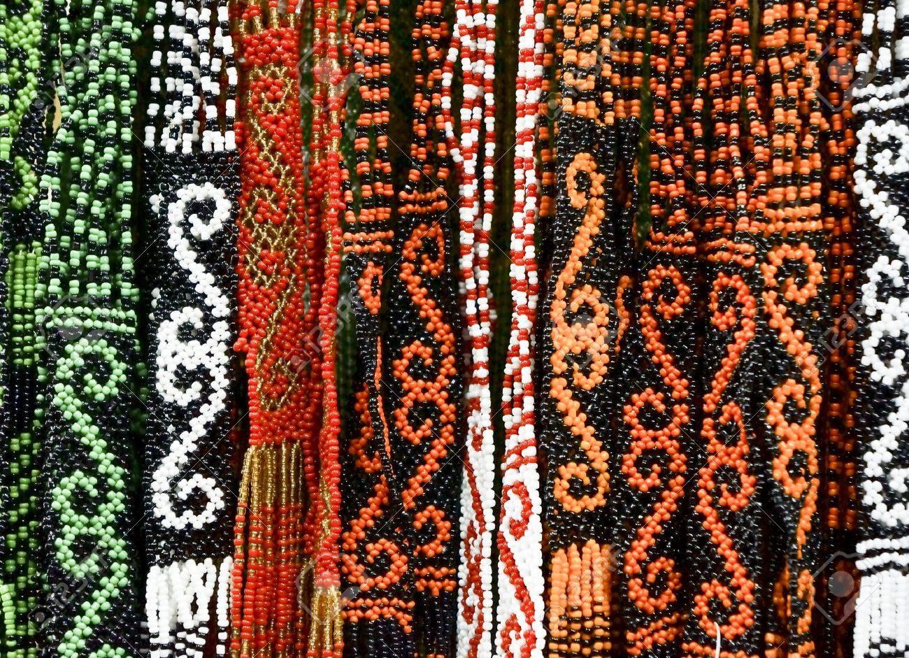 Pattern of Borneo Bead Crafts - 15013619