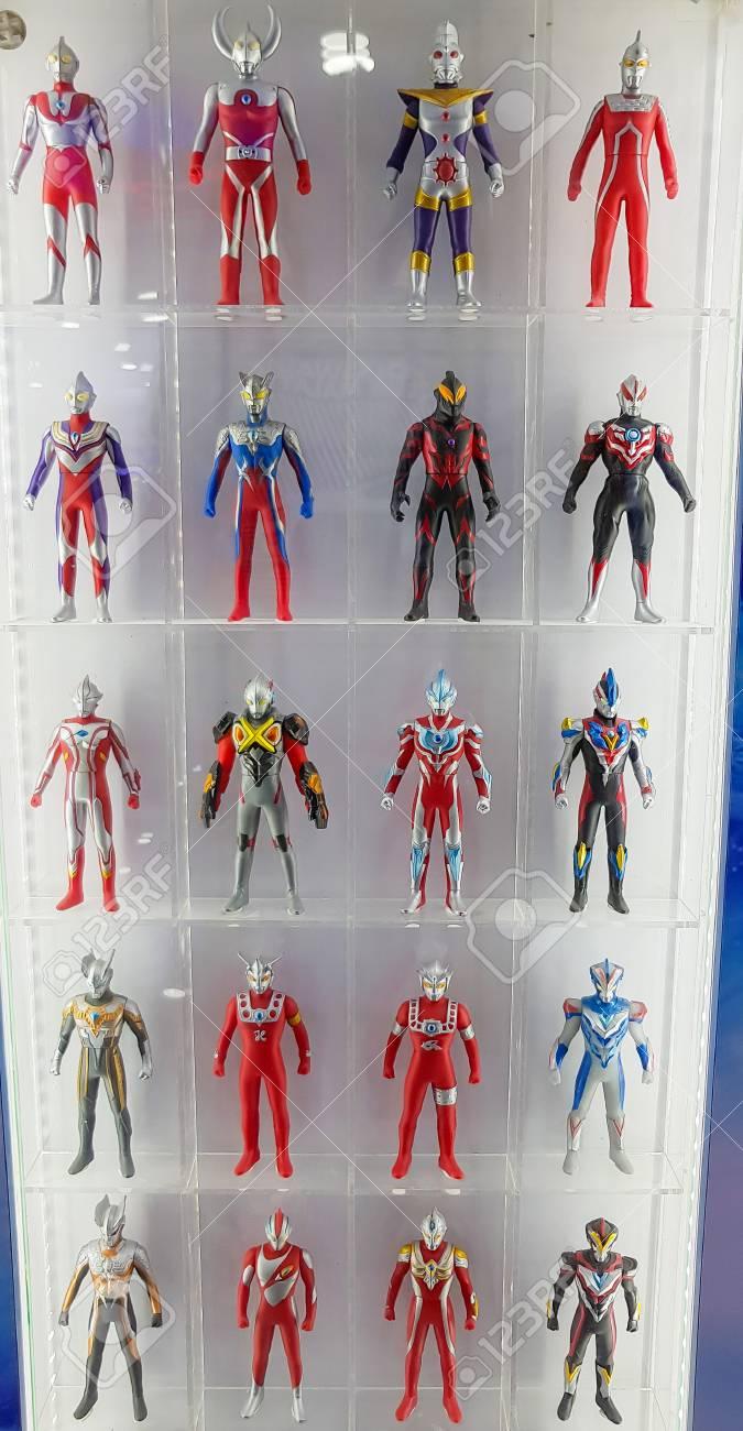 Kuala Lumpur Malaysia August 25 2018 Ultraman Toys On The