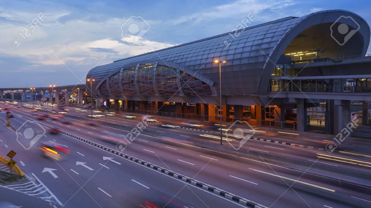 Traffic at LRT Station at Puchong, Kuala Lumpur, Malaysia - 115369858