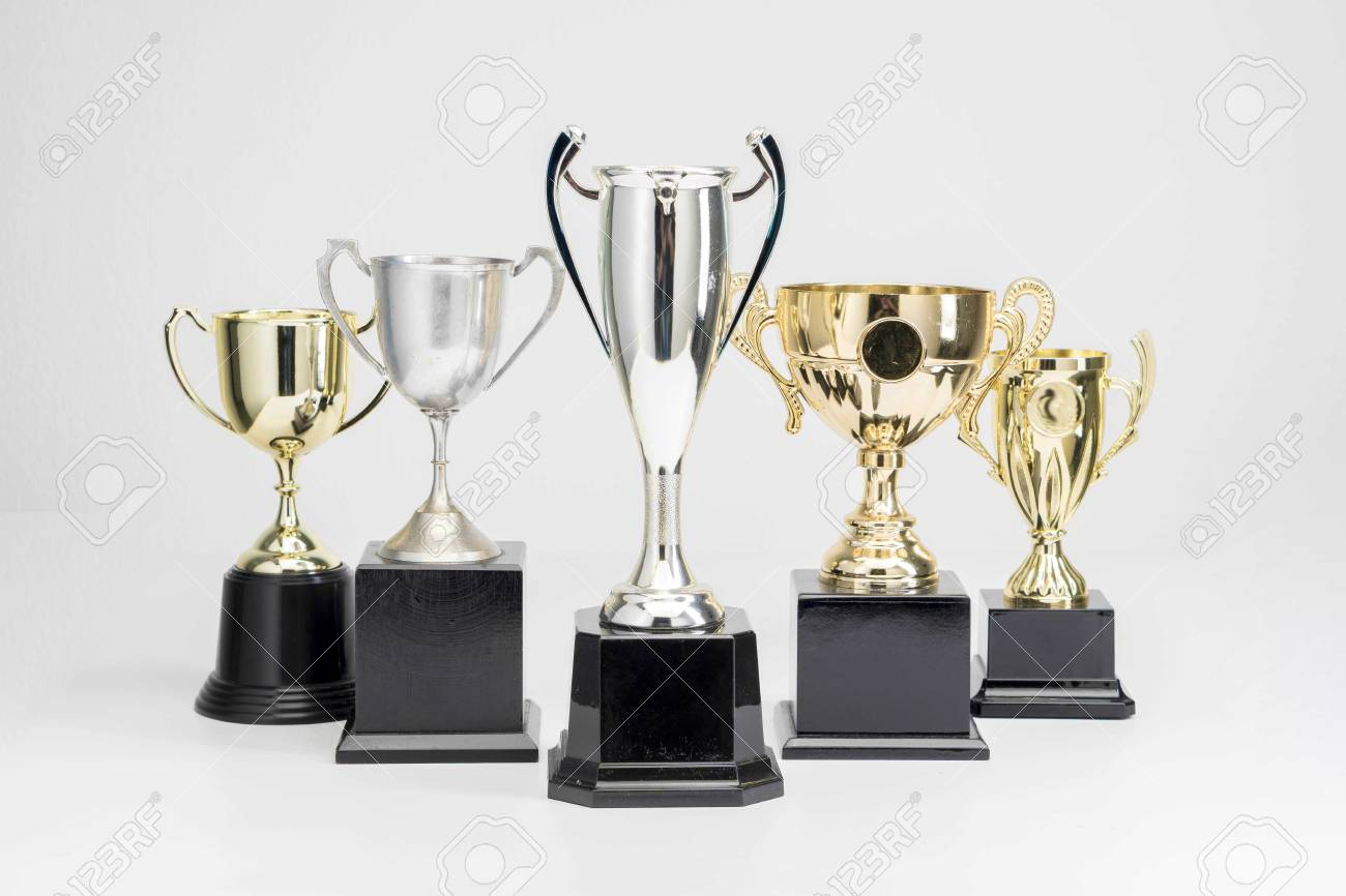 Trophy Cup on white background - 122278681