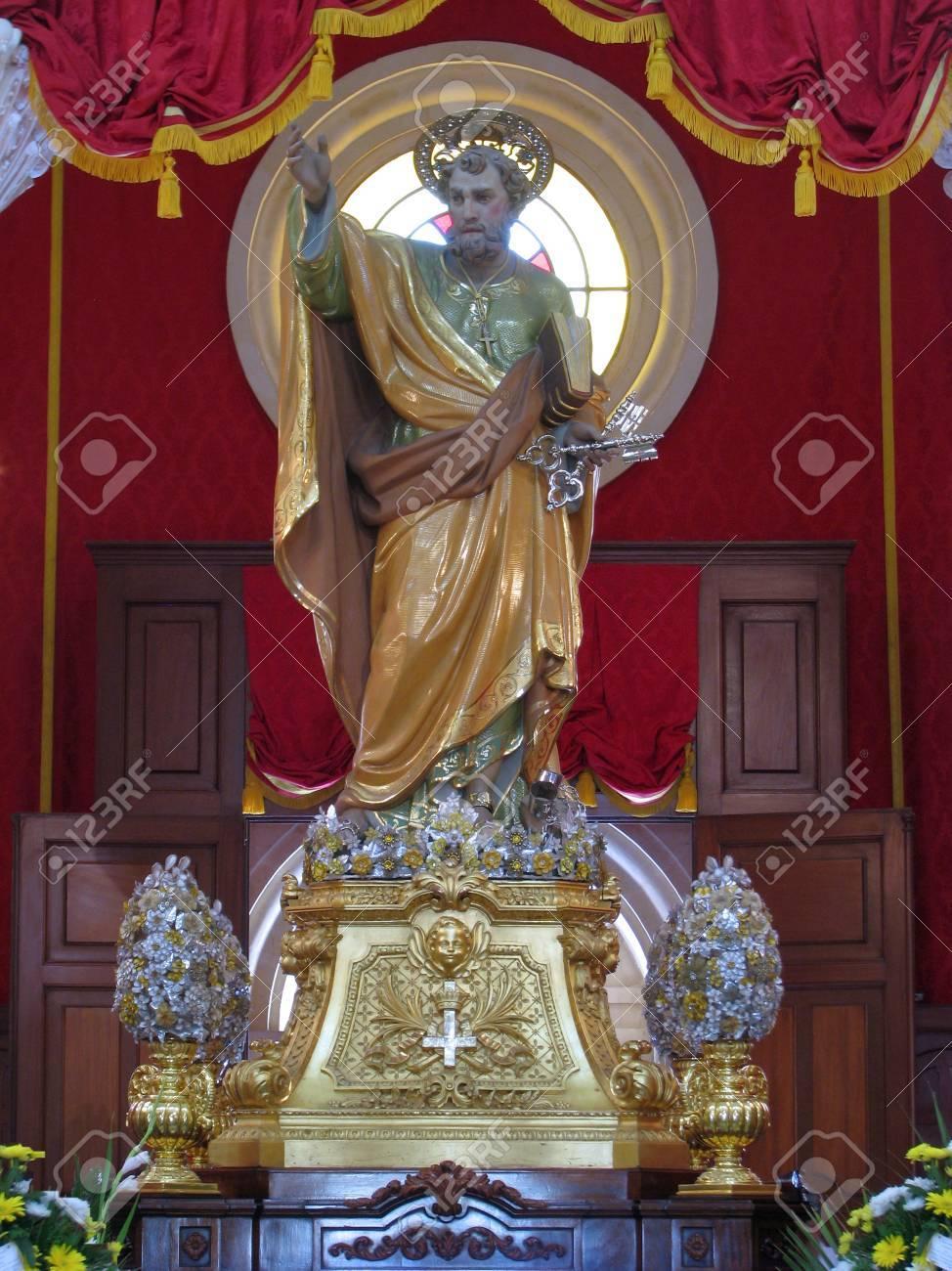 The statue of Saint Peter of Birzebbugia, Malta. Stock Photo - 14762319