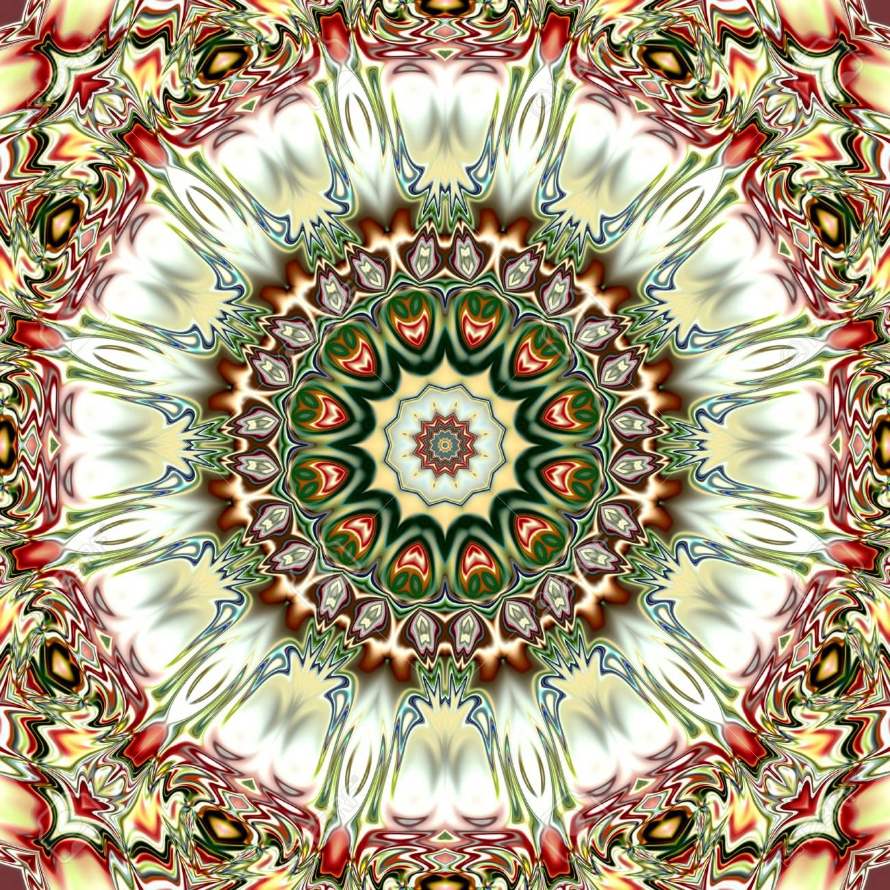 Unique Mandala Oriental Round Pattern Mystical Motif Abstract