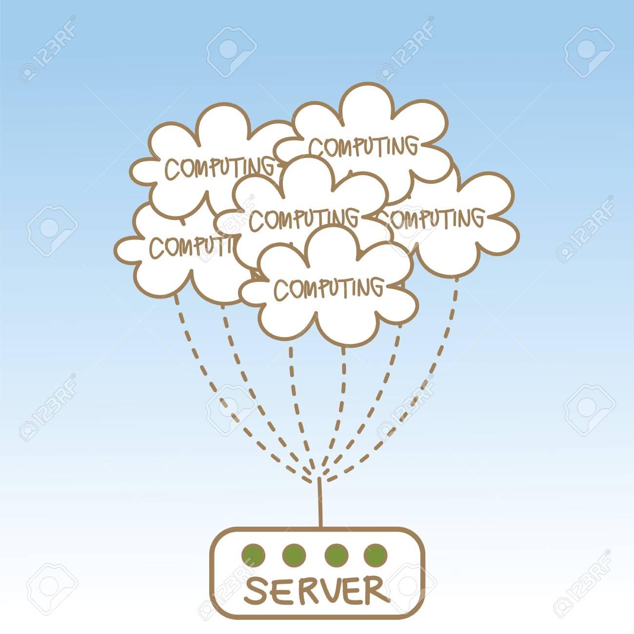 abstract of cloud computing server Stock Photo - 17389524
