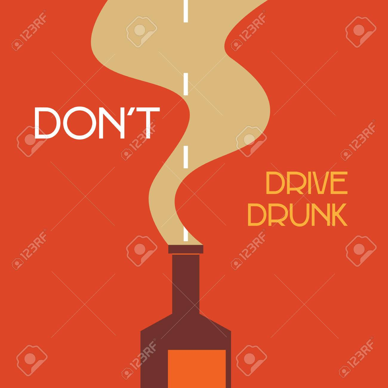 don't drive drunk Stock Vector - 23864381