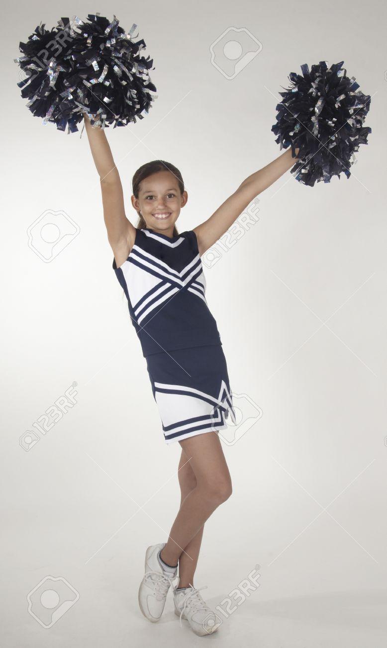 Teen girl cheerleaders