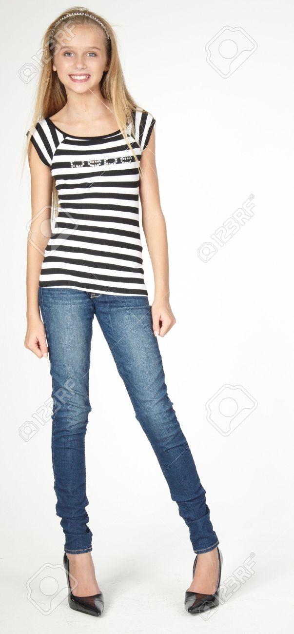skinny teen in jeans
