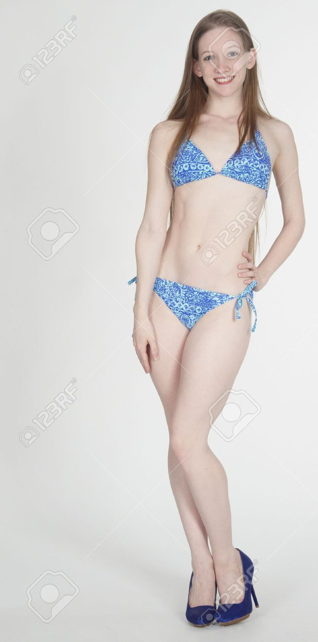 Teen Girl In A Bikini Stock Photo, Picture And Royalty Free Image ...