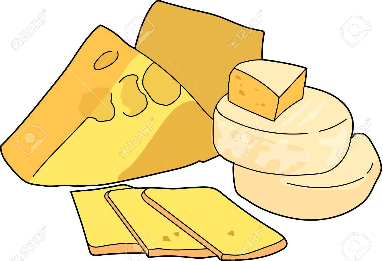 A Yellow Cheese Head A Sliced Cheese Royalty Free Cliparts Vectors And Stock Illustration Image 74684904