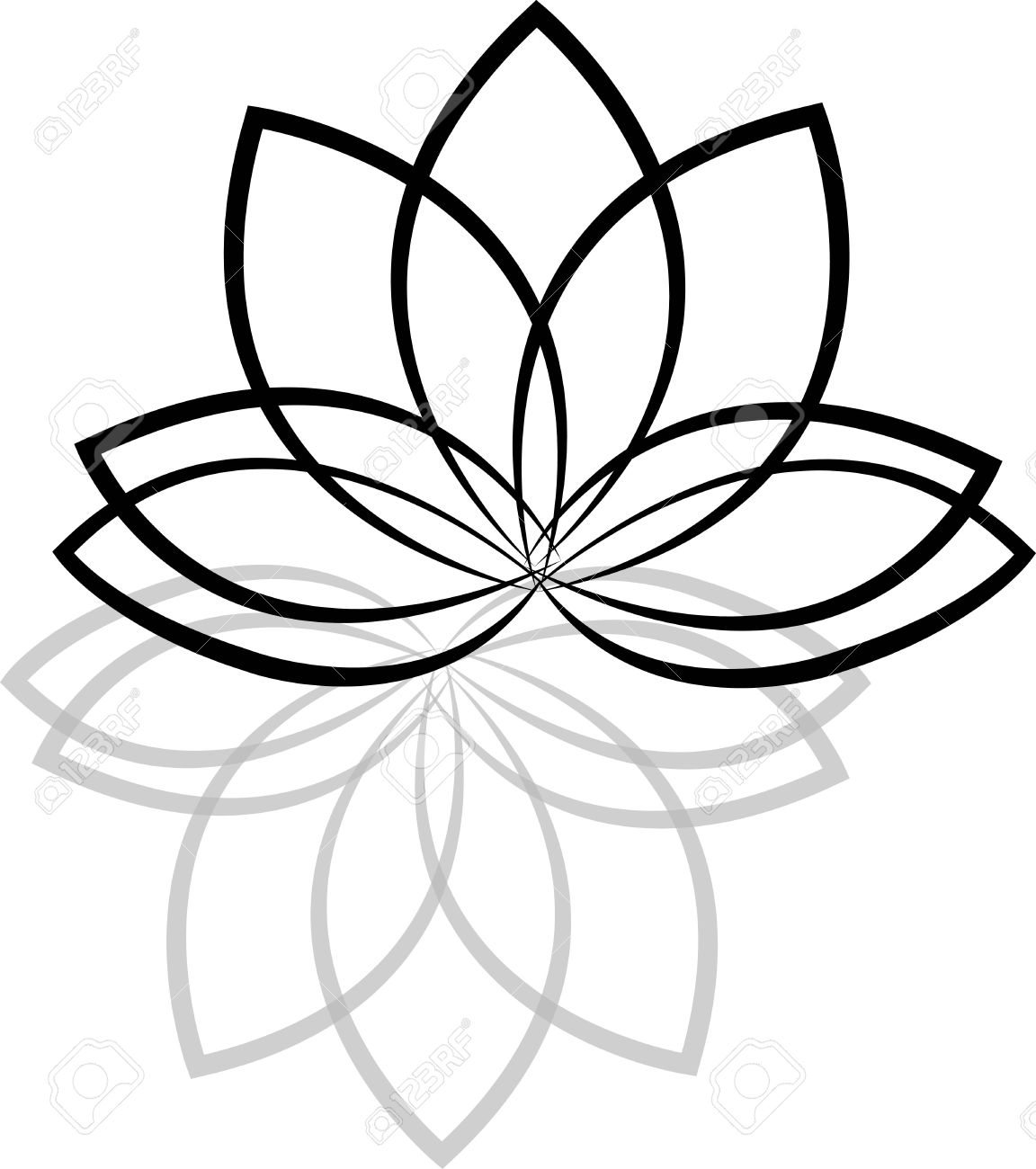 Lotus flowers silhouettes on white background stock photo picture lotus flowers silhouettes on white background stock photo 34565860 izmirmasajfo Images