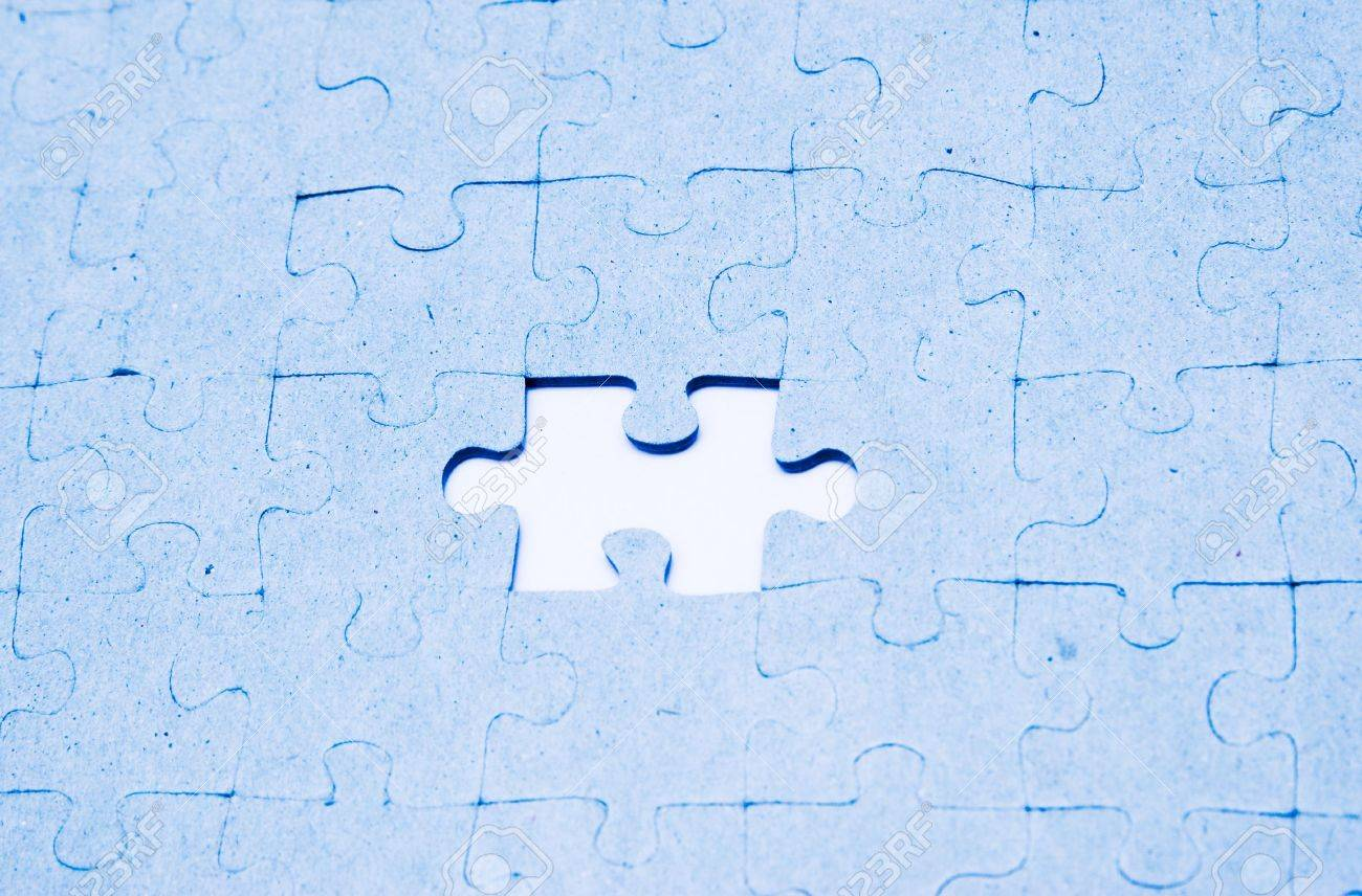 missing a puzzle piece Stock Photo - 962317