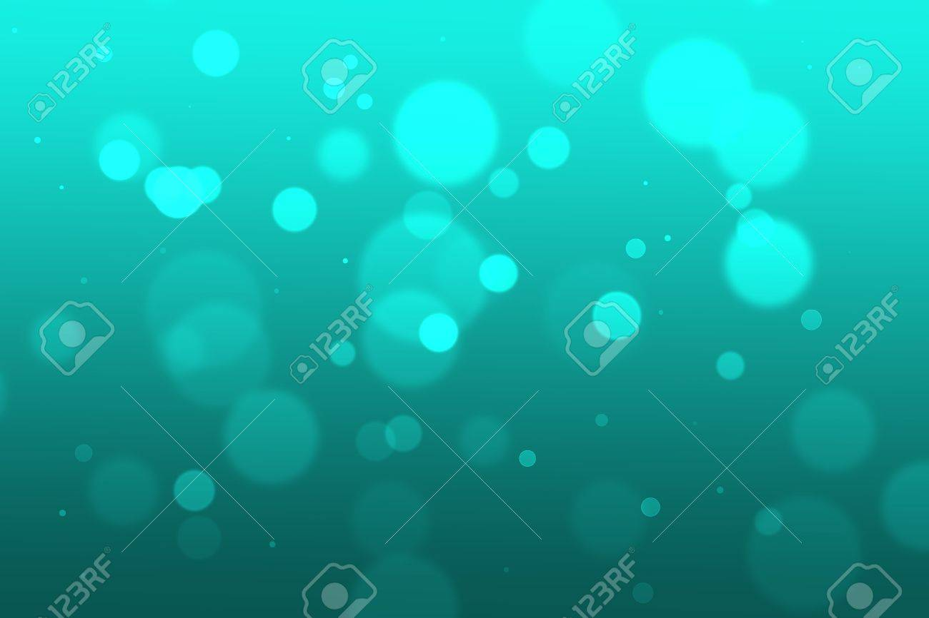 Abstract graphic design with blue circles at different depth, blur, and intensity on a blue background  This could represent underwater blur with bubbles Stock Vector - 19310604