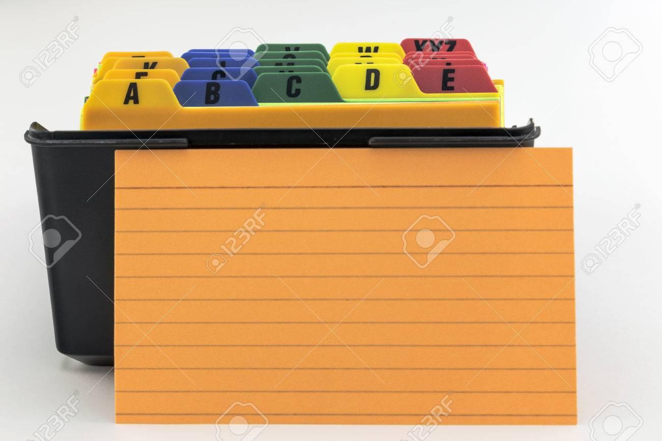 Archivador Tarjeta De índice Caja De Plástico Negro Con Fichas De ...