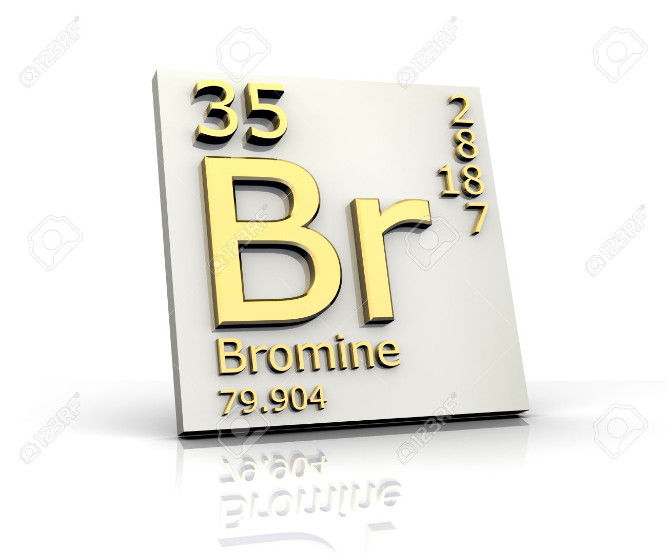 Bromine Form Periodic Table Of Elements Stock Photo, Picture And ...