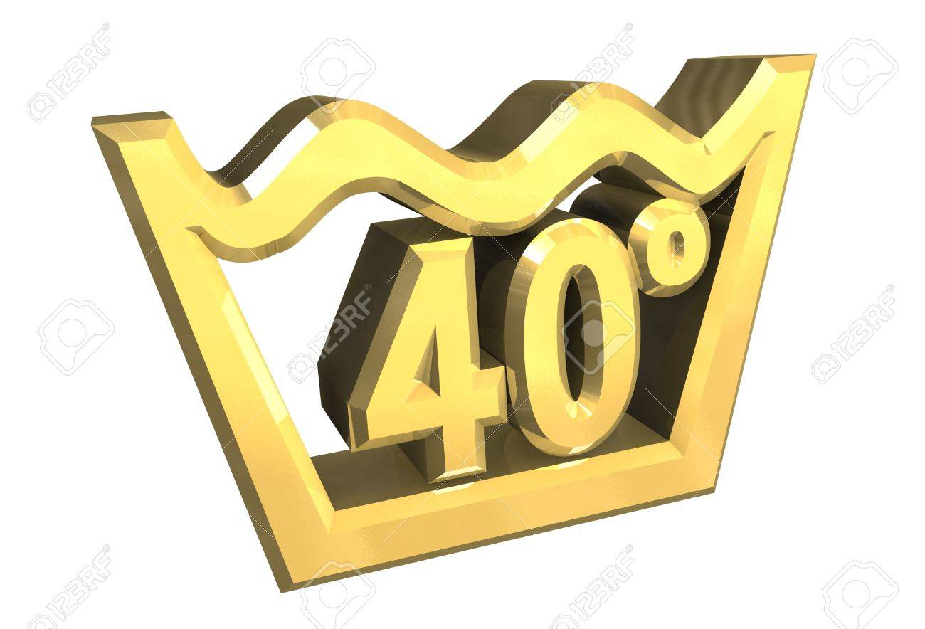 Washing 40 degree symbol in gold isolated 3d stock photo picture washing 40 degree symbol in gold isolated 3d stock photo 4525139 biocorpaavc Image collections