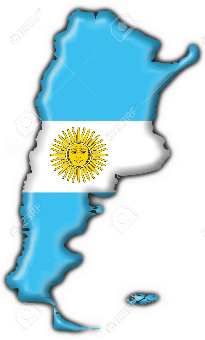 Argentina Button Flag Map Shape Stock Photo Picture And Royalty - Argentina map shape