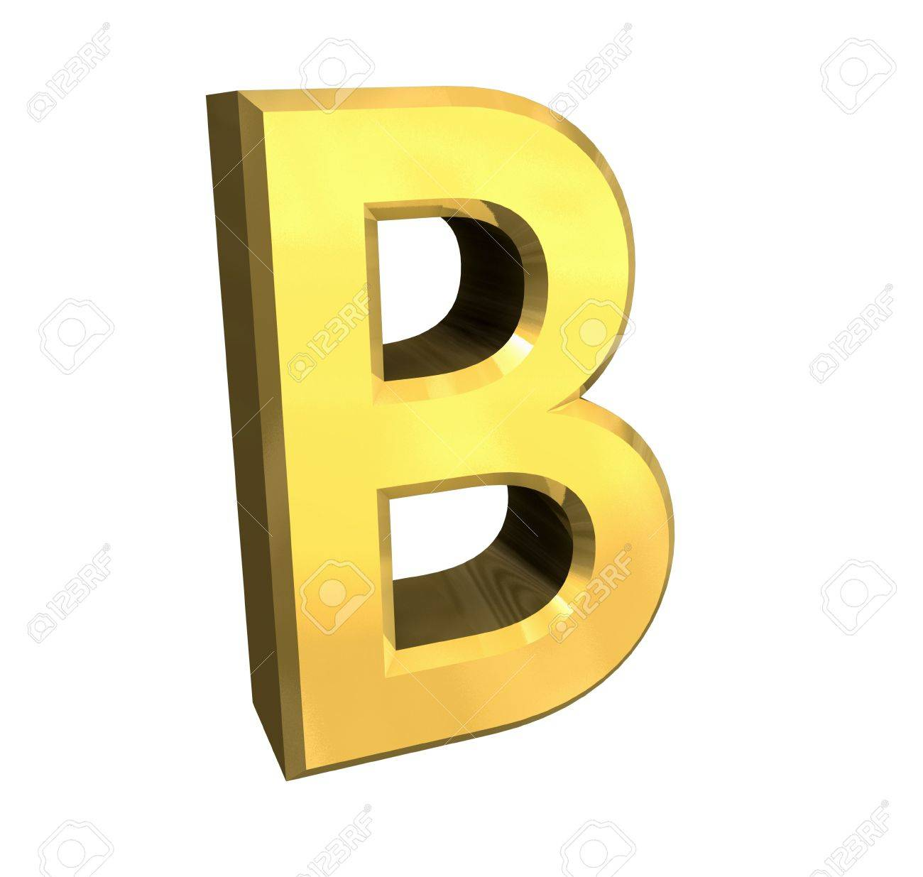 gold letter B - 3d made Stock Photo - 4758219