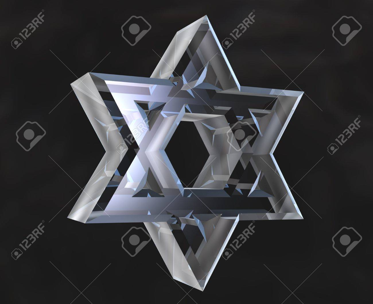 Star of David Symbol in glass - 3d Stock Photo - 6094701