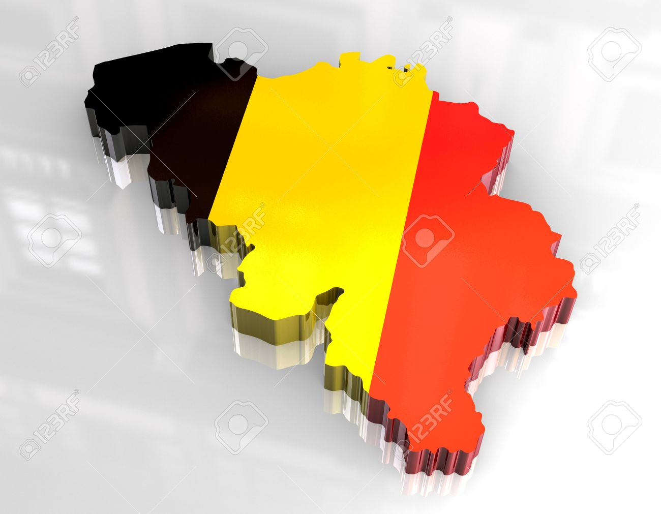 3d flag map of belgium Stock Photo - 6898687