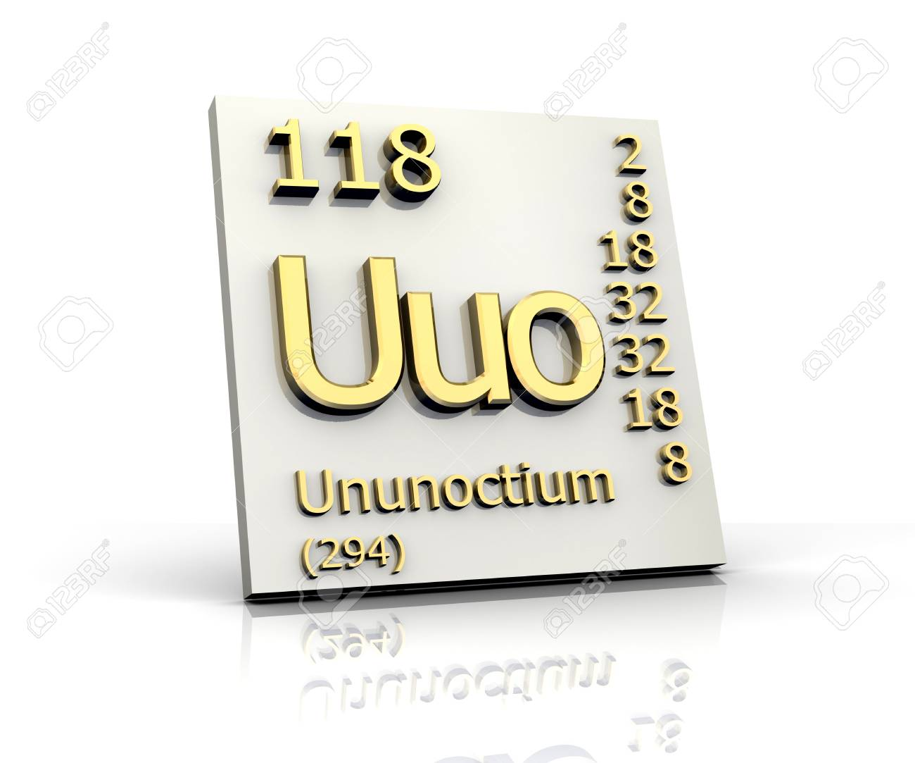 Ununoctium from periodic table of elements 3d made stock photo stock photo ununoctium from periodic table of elements 3d made urtaz Images