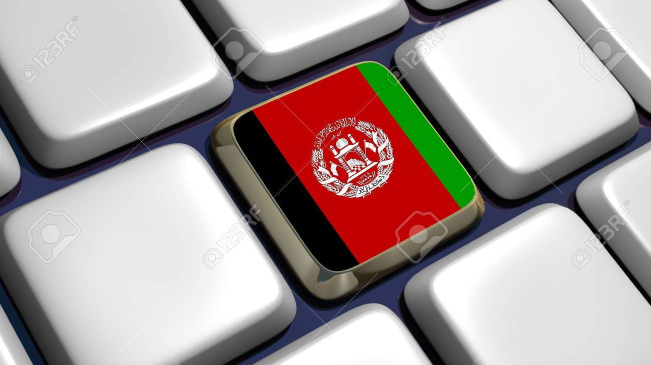 Keyboard (detail) with Afghanistan key - 3d made Stock Photo - 10266198