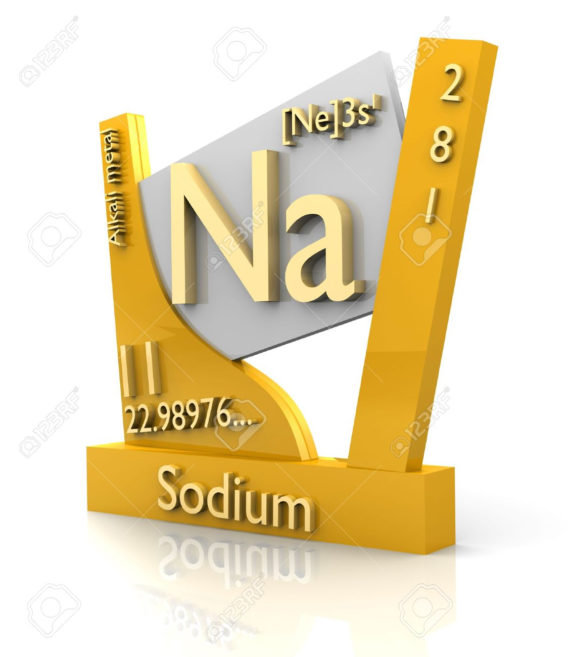 Sodium form periodic table of elements 3d made stock photo sodium form periodic table of elements 3d made stock photo 11298044 gamestrikefo Image collections