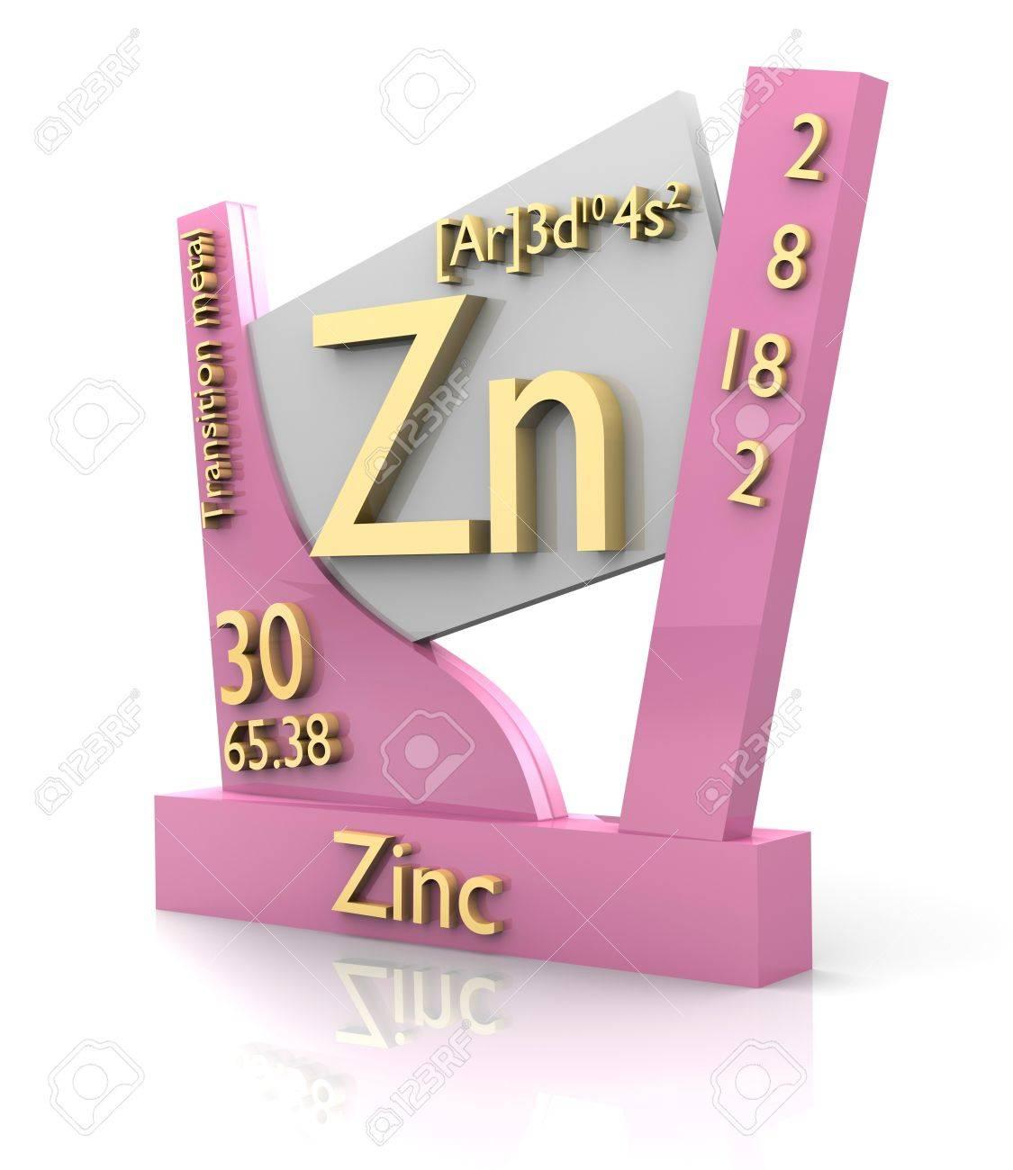el zinc forma de tabla peridica de los elementos 3d hecho foto de archivo - Tabla Periodica Zinc