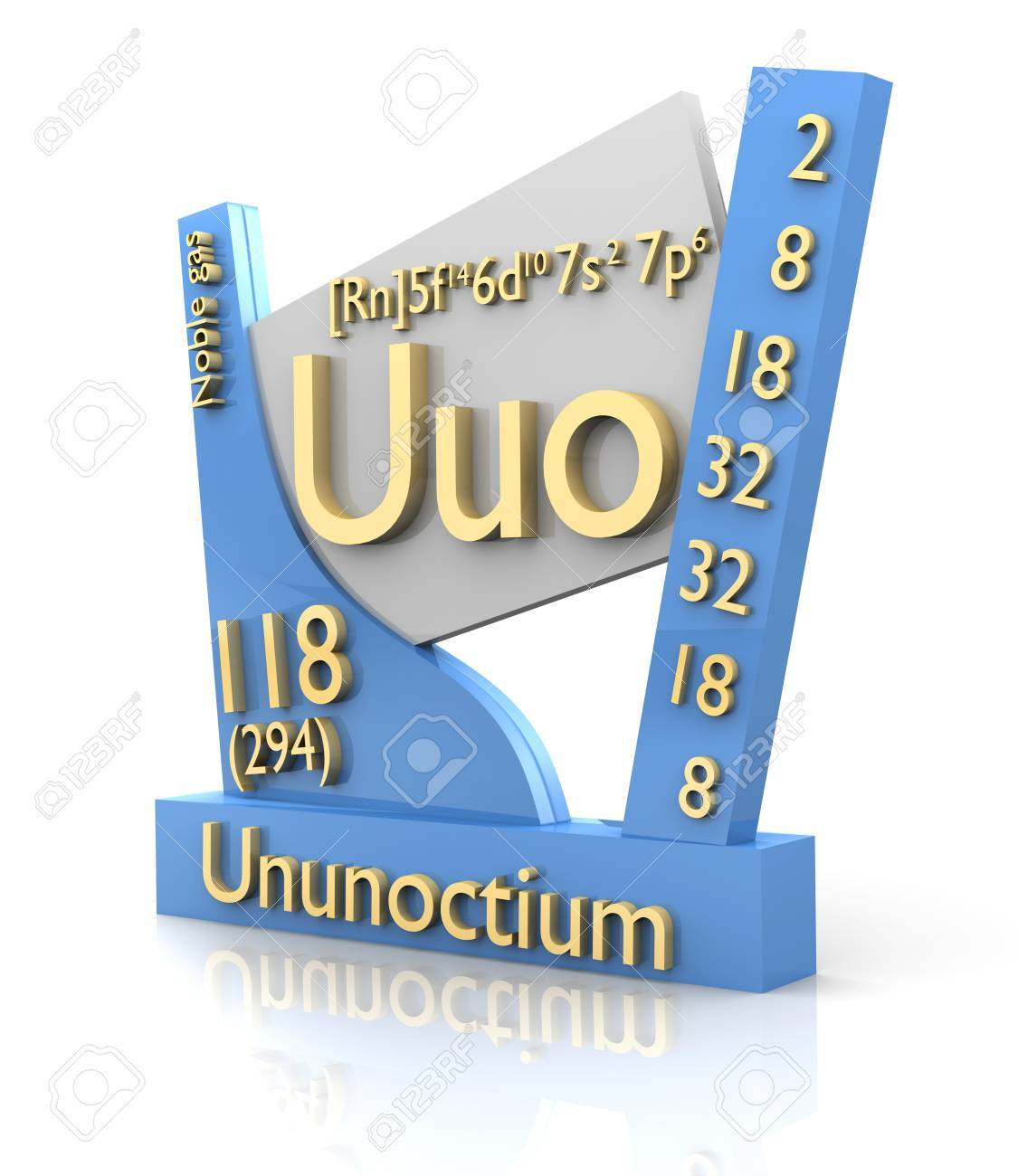 Ununoctium form periodic table of elements 3d made stock photo stock photo ununoctium form periodic table of elements 3d made urtaz Images