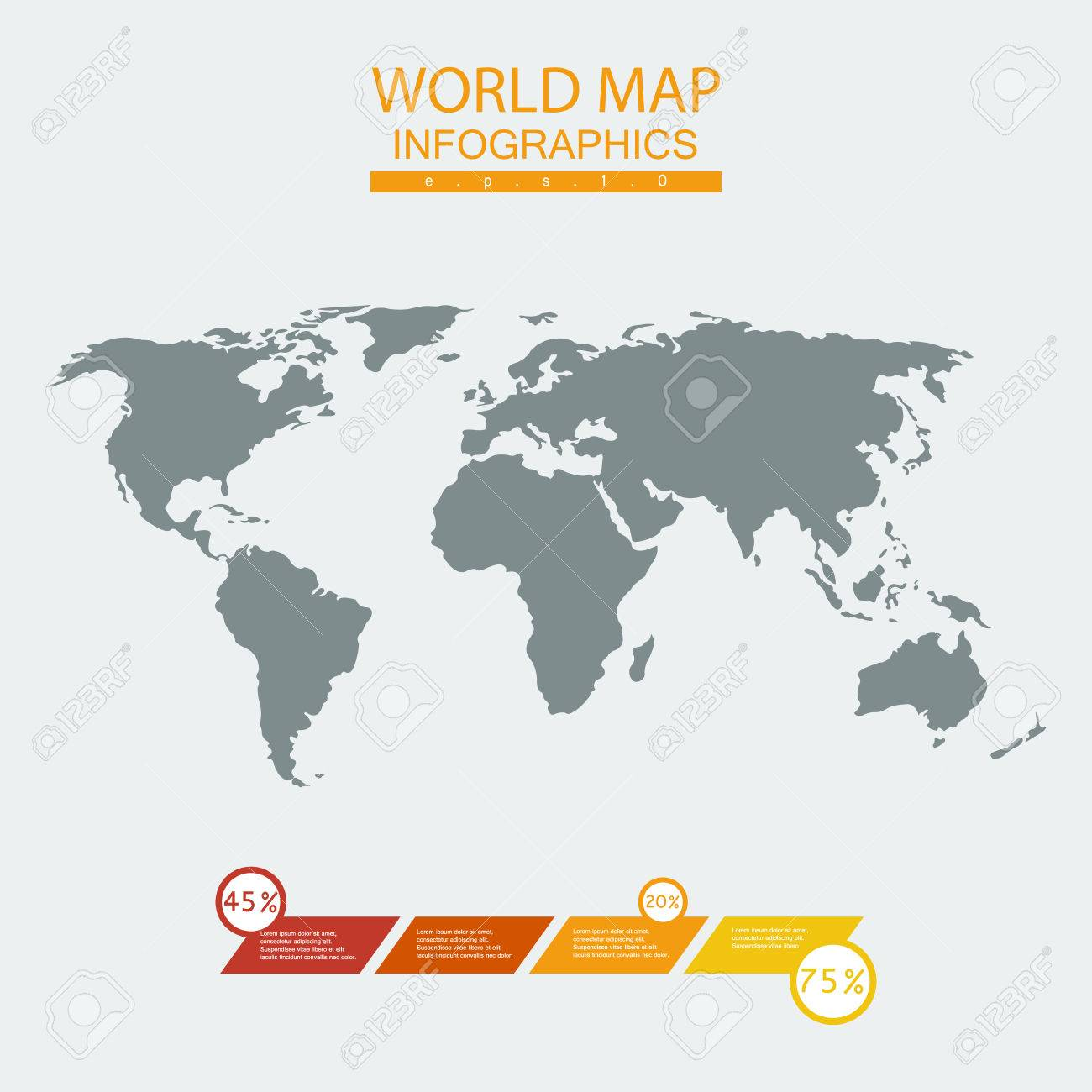Vector world map chart continent mainland infographicsflat vector vector world map chart continent mainland infographicsflat graphics gumiabroncs Gallery