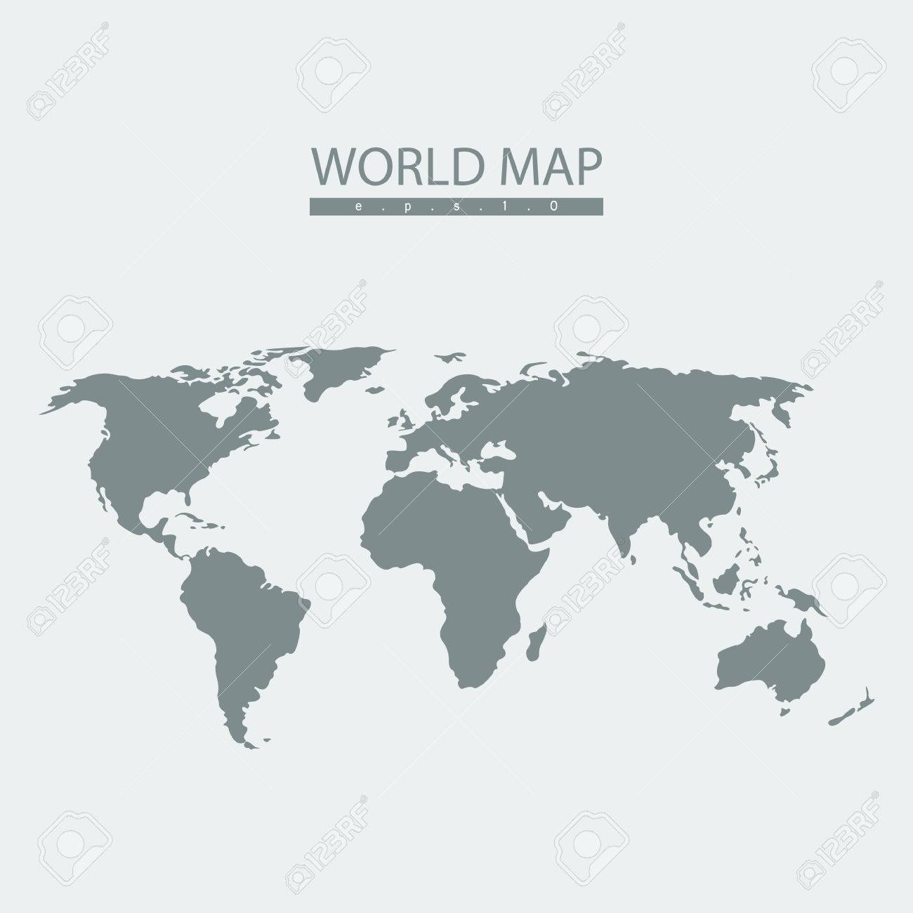 Vector world map atlas continent mainland infographicsflat vector vector world map atlas continent mainland infographicsflat graphics gumiabroncs Choice Image