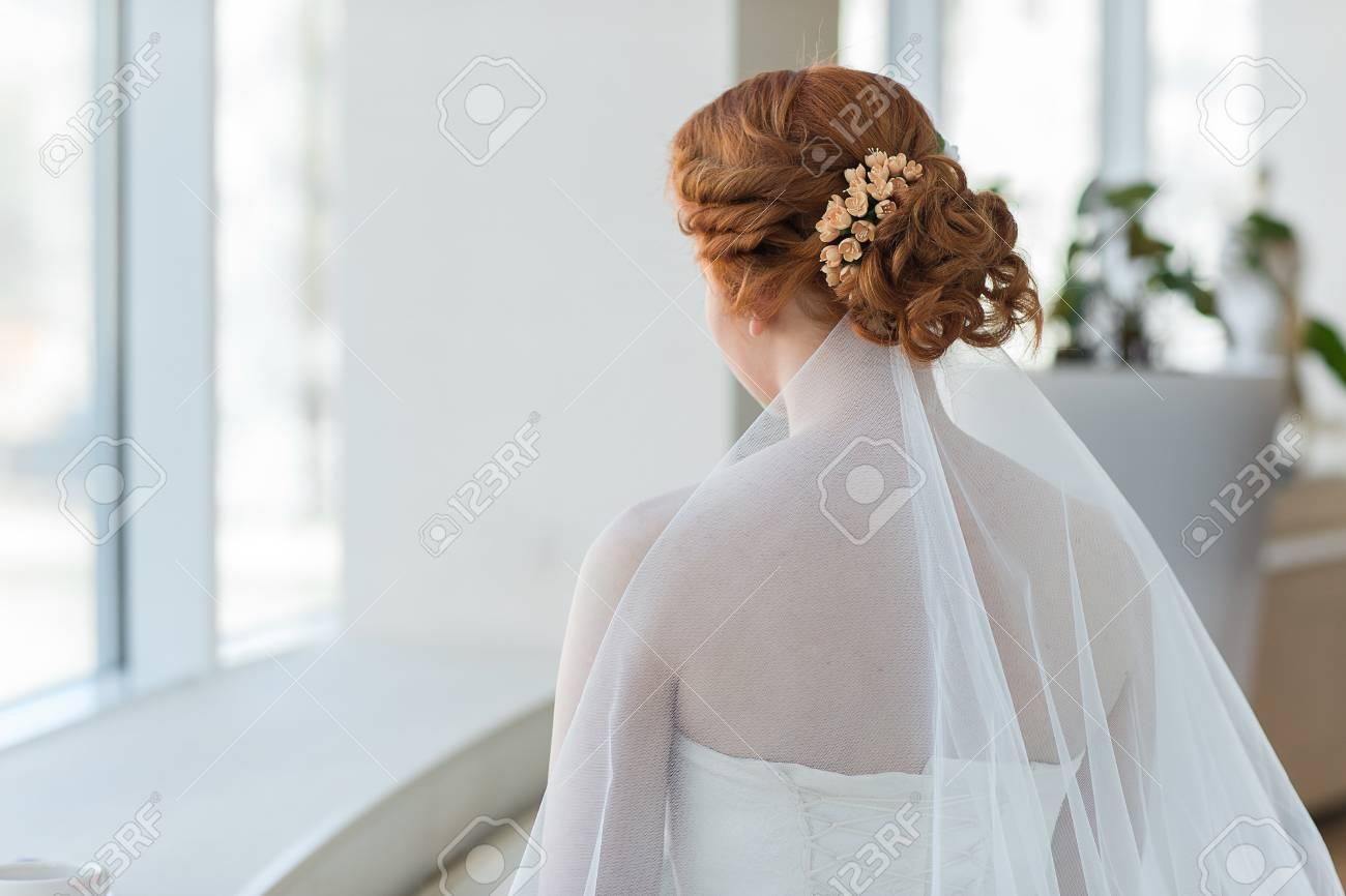 Gold Oder Rote Haare Der Braut Hochzeit Frisuren Nahaufnahme