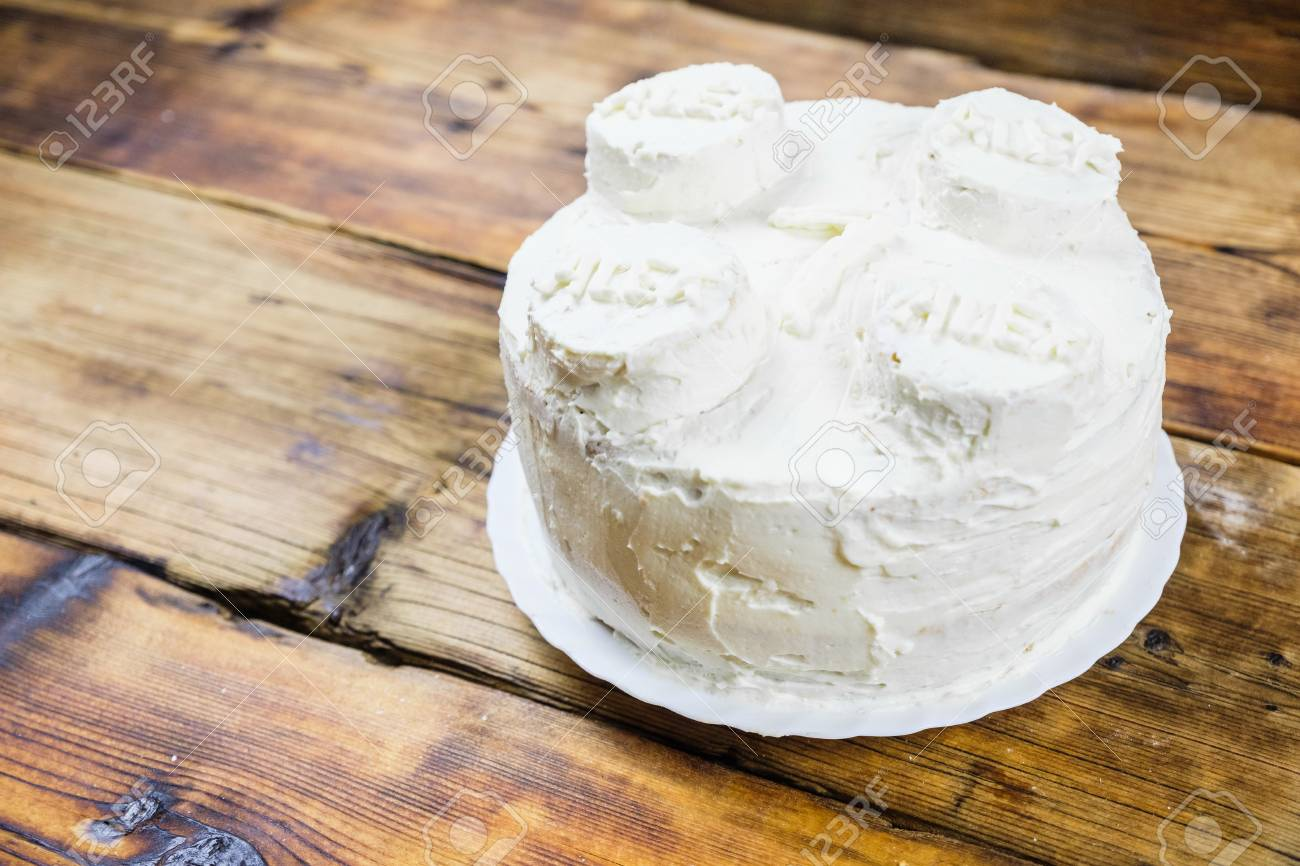 Homemade Birthdays White Cake For 7 Year Old Boy Round In Brick Shape