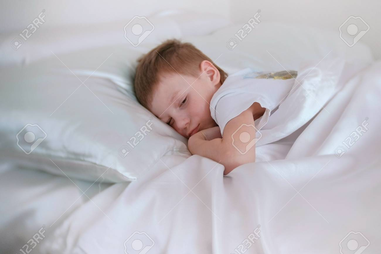 Seven Year Old Boy Wakes Up An...