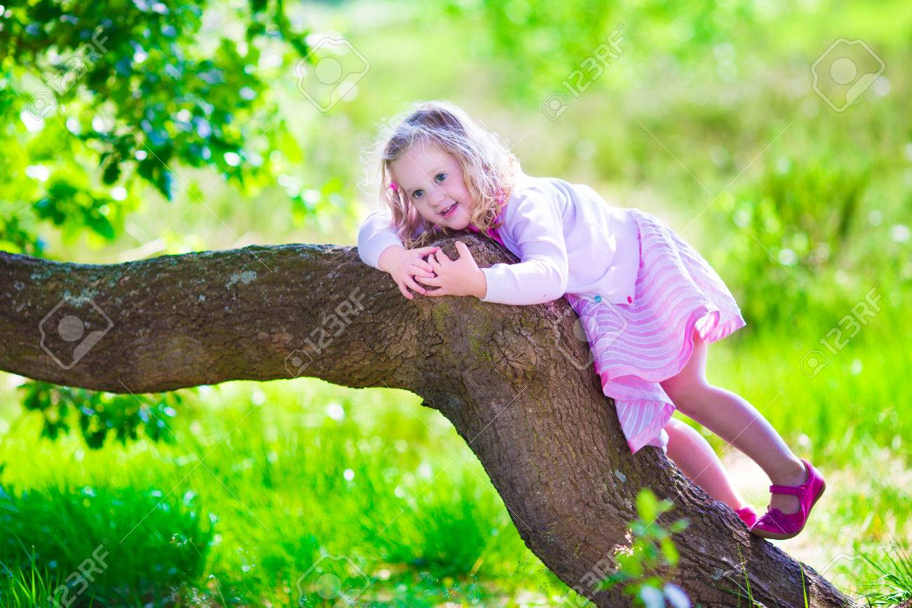 908758544 Little Girl Hiking In A Forest. Outdoor Fun For Family In Country ...