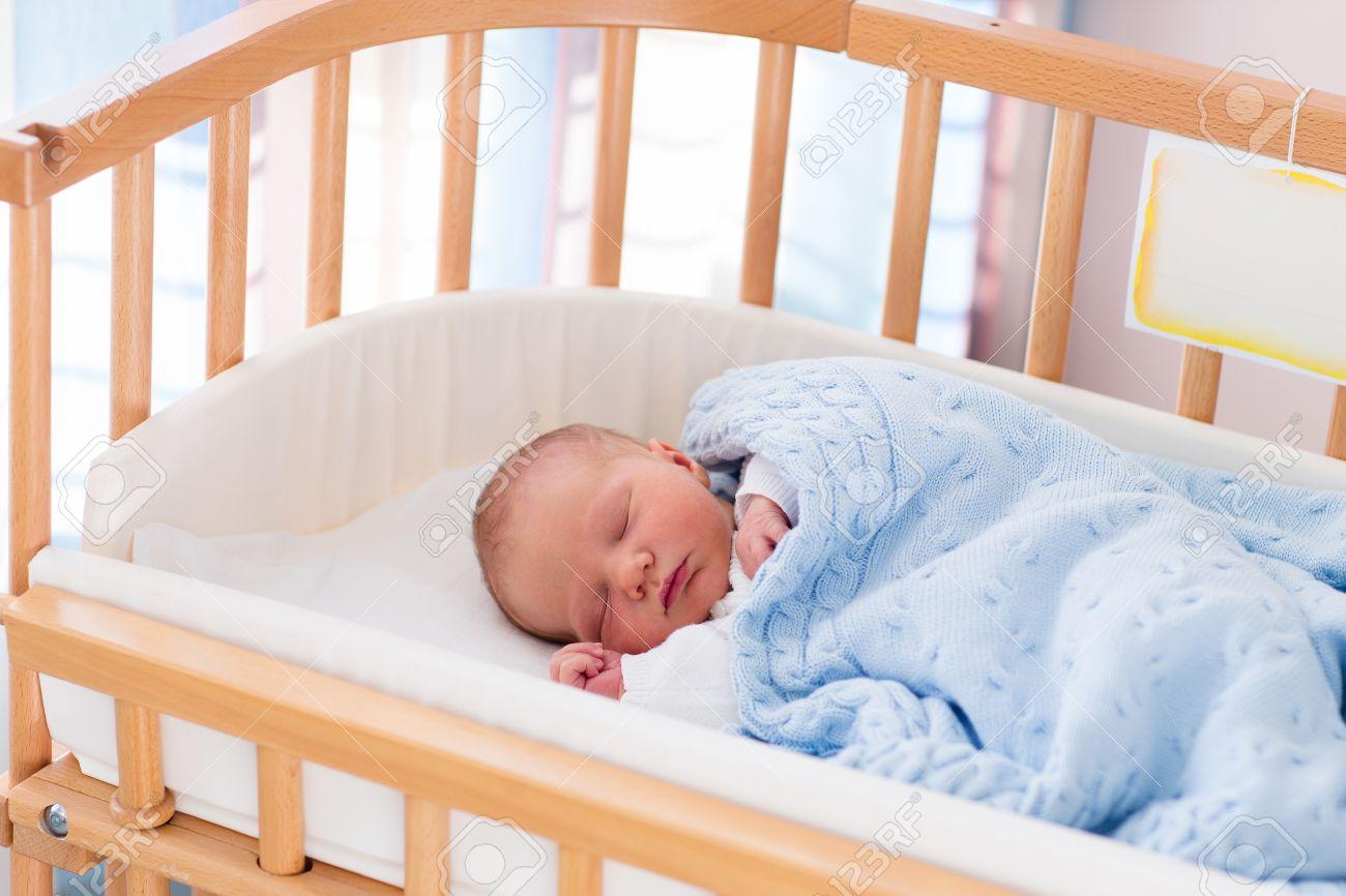 Baby bed newborn - Newborn Baby In Hospital Room New Born Child In Wooden Co Sleeper Crib
