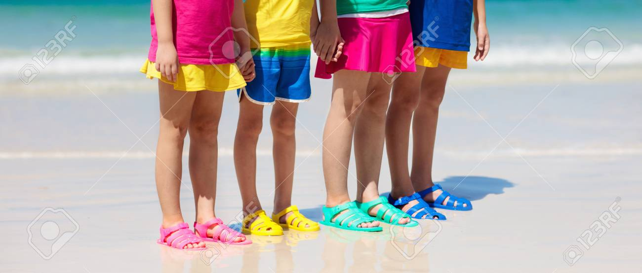 Kids Beach Shoes. Colorful Footwear For
