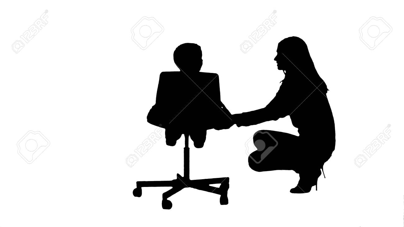Silhouette Mother And Boy Play Game Stock Photo Picture And