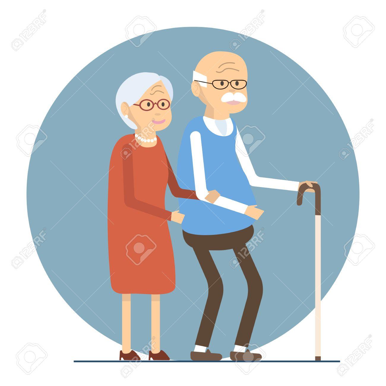 illustration happy senior man woman family old people couple rh 123rf com
