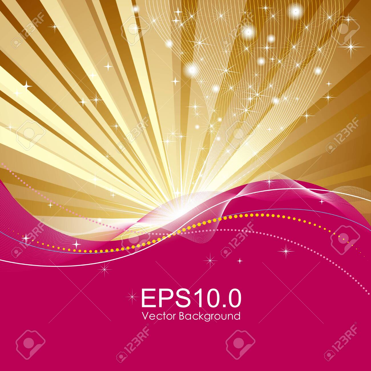 Abstract background design. The background is golden radial. - 131432214