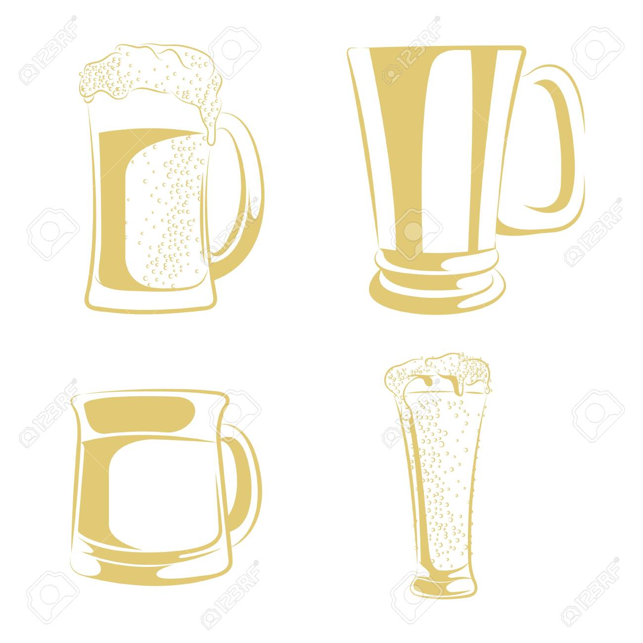 beer mug isolated on white background. - 131437387