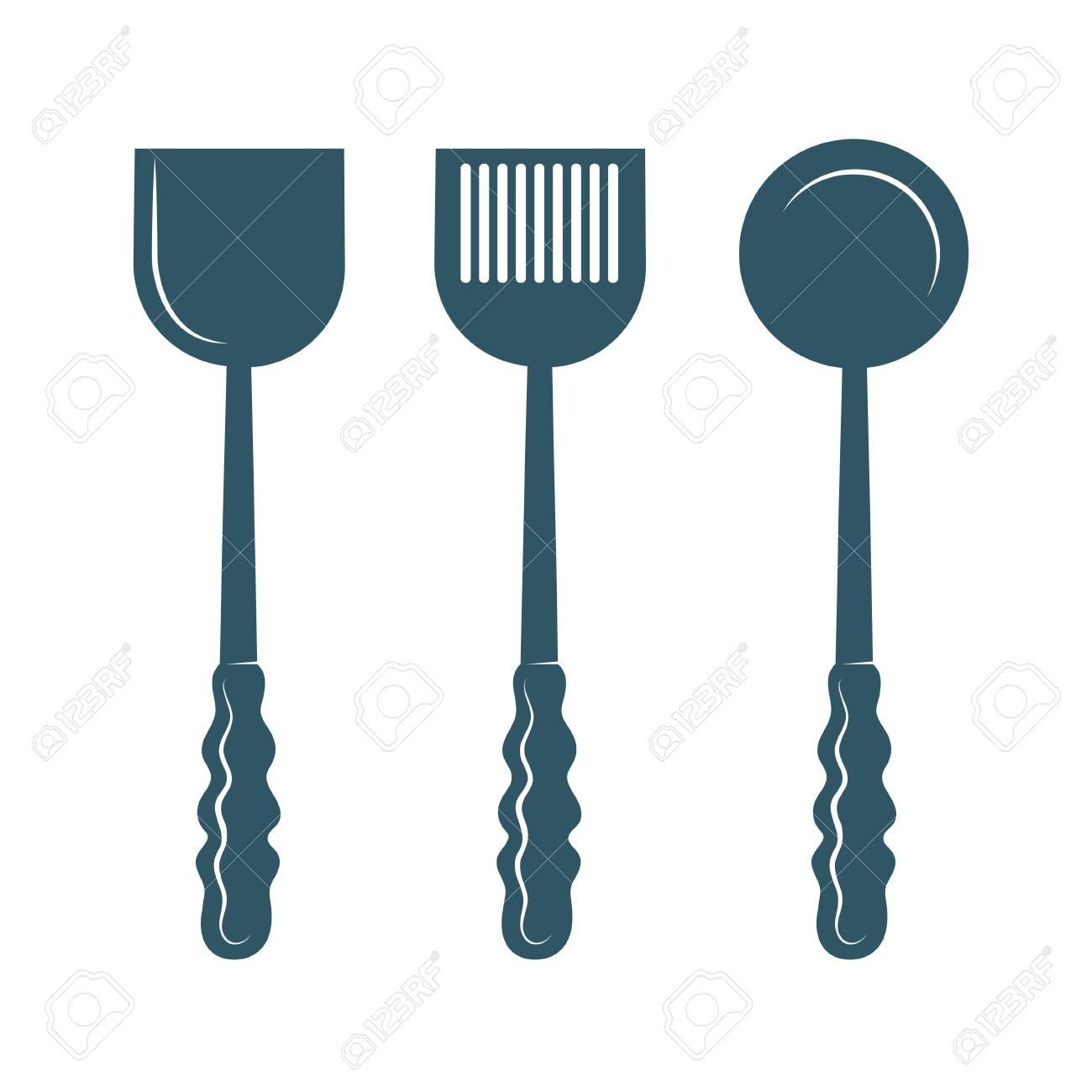kitchen utensils isolated on white background. - 131437427