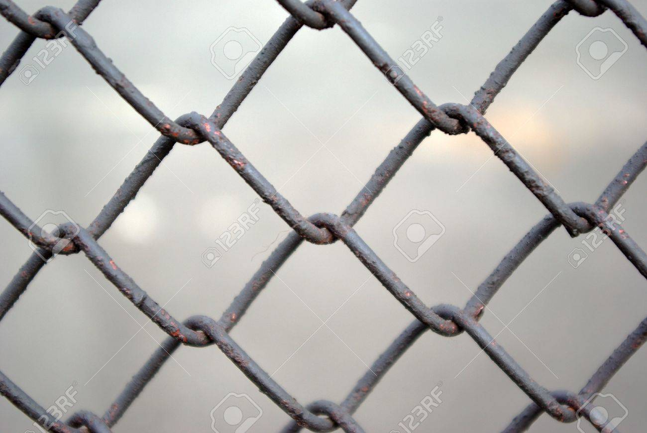 metal grate  on light background.Background from metallic lattice Stock Photo - 3031249