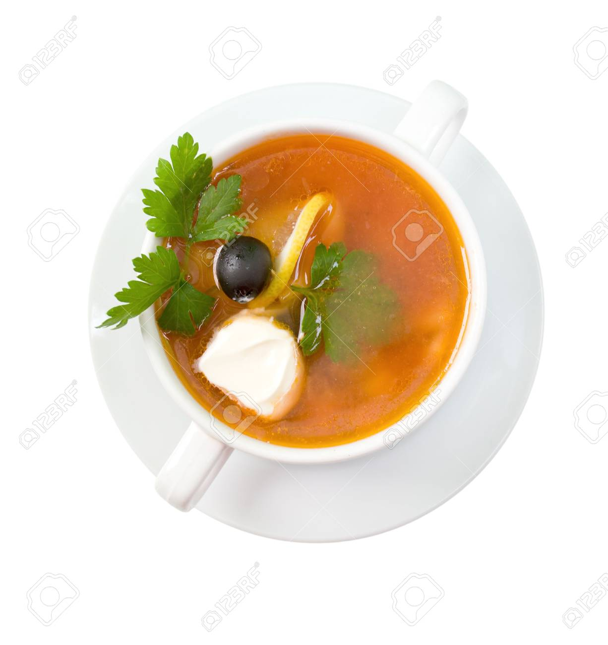 thick soup of vegetables and meat  - solanka Standard-Bild - 5901794