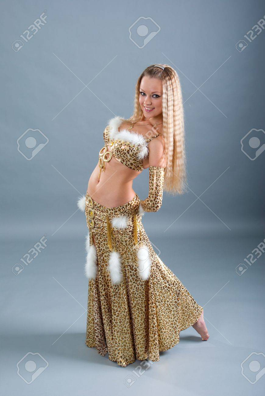 85ce15507 Fashion girl in belly dance dress