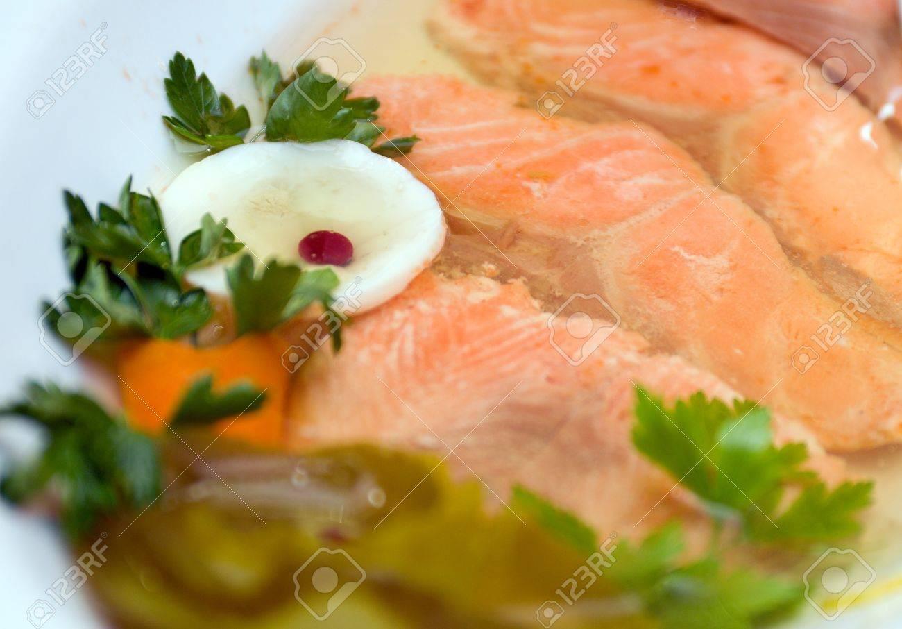 Заливное из сёмги пошаговый рецепт с фото