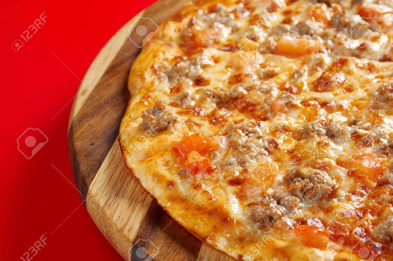 Pizza  homemade . italian kitchen. Studio Stock Photo - 13978762