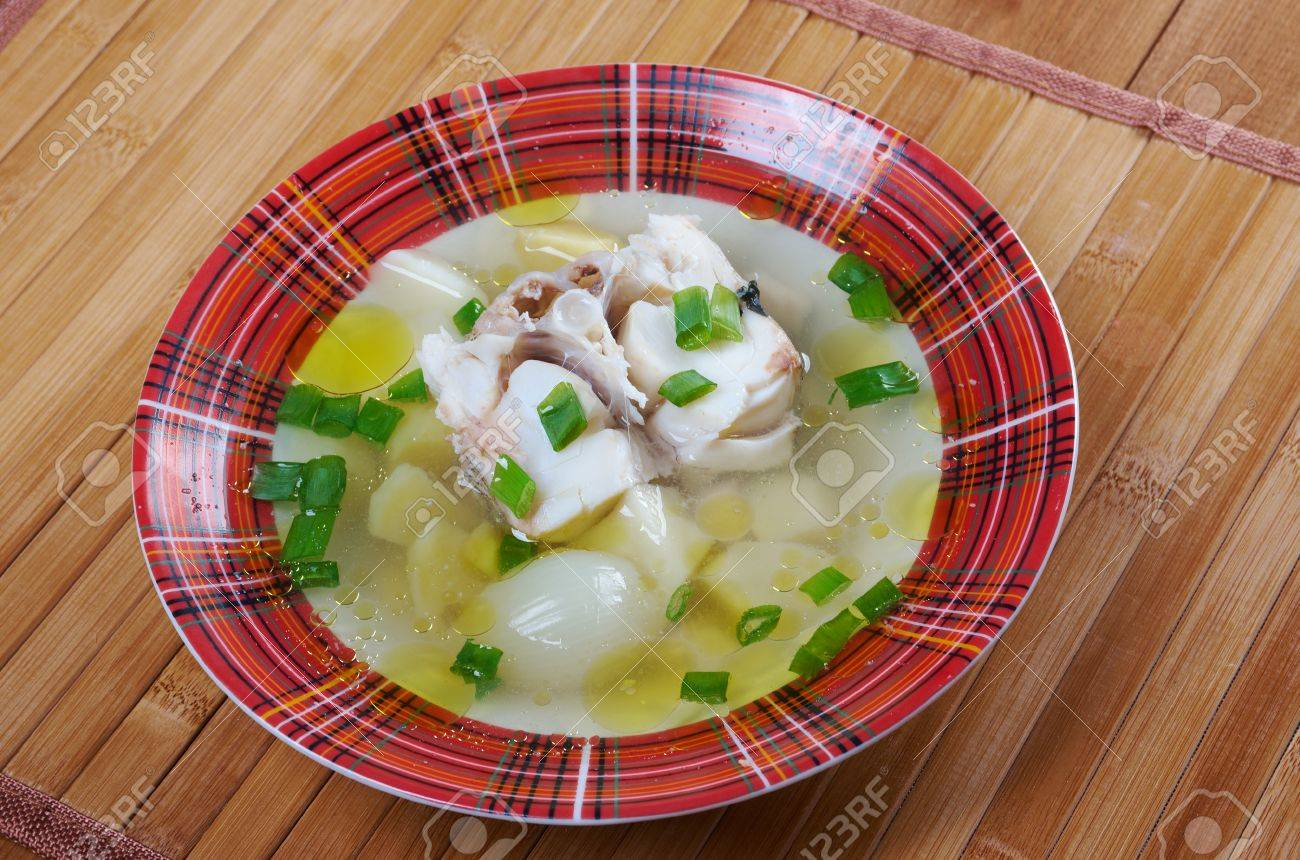 ukha russian home traditional fish soup stock photo picture and