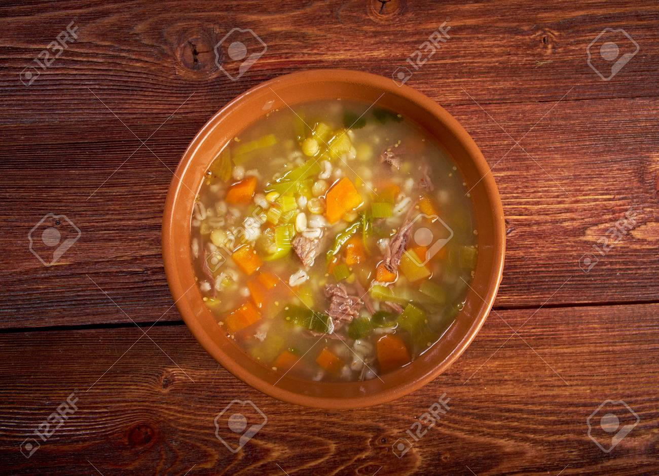 Scotch Broth Soupfarmhouse Kitchenold Fashioned Thrifty Soup Made From Meat On The